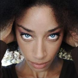 Black Woman Blue Eyes