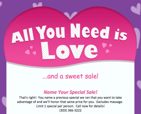 Name Your Special February Sale!