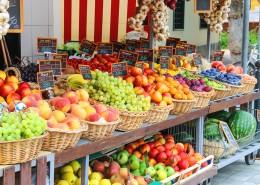 Fruit stall in the Italian city market